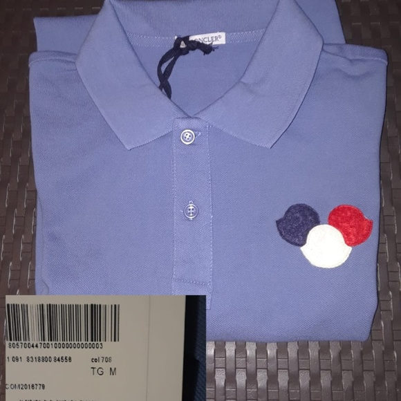 e025a967f Moncler Shirts   Men Blue Polo Shirt Medium Nwt   Poshmark